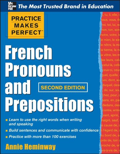 French Pronouns and Prepositions  2nd 2011 edition cover