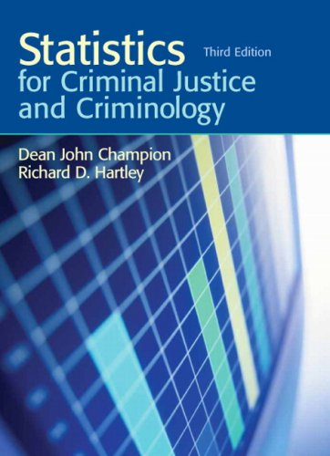Statistics for Criminal Justice and Criminology  3rd 2010 edition cover