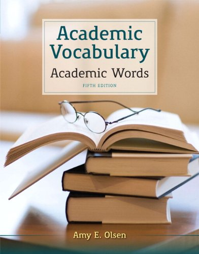 Academic Vocabulary Academic Words 5th 2013 edition cover