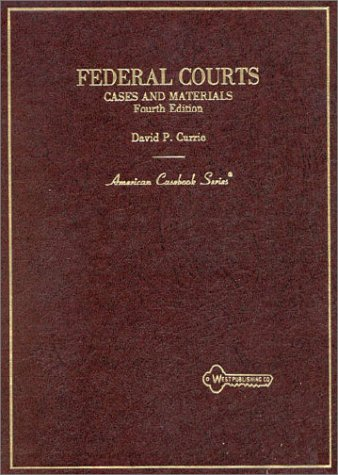 Cases on Federal Courts  4th 1990 (Revised) 9780314744852 Front Cover