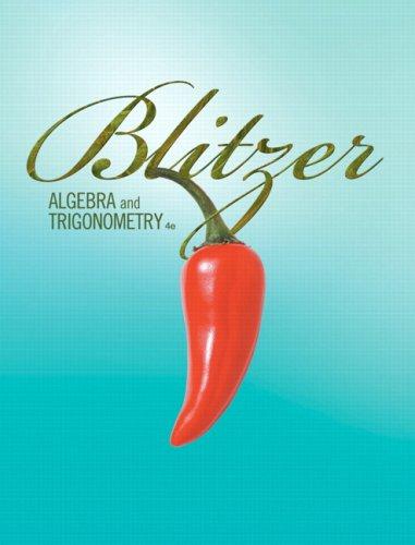 Algebra and Trigonometry  4th 2010 edition cover