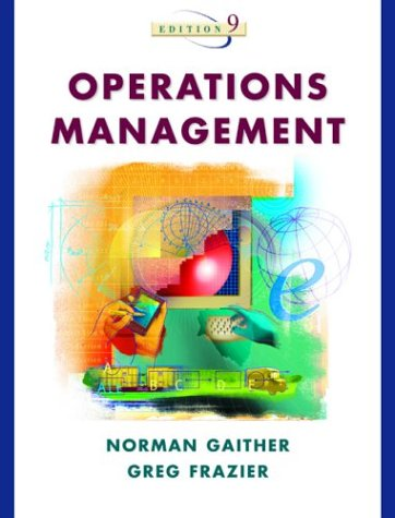 Operations Management  9th 2002 (Revised) edition cover