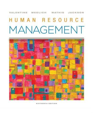 Human Resource Management  16th 2020 9780357033852 Front Cover