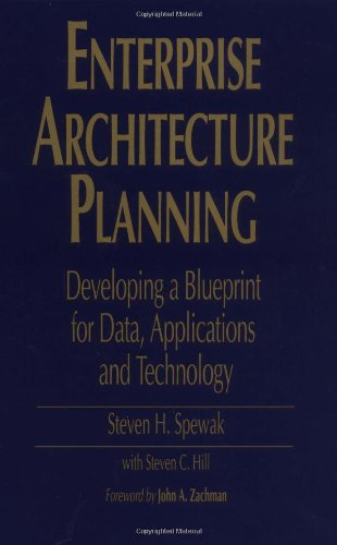 Enterprise Architecture Planning Developing a Blueprint for Data, Applications, and Technology 2nd 1992 edition cover