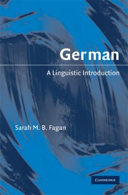 German A Linguistic Introduction  2009 9780521852852 Front Cover