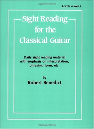 Sight Reading for the Classical Guitar Level IV-V  1985 edition cover