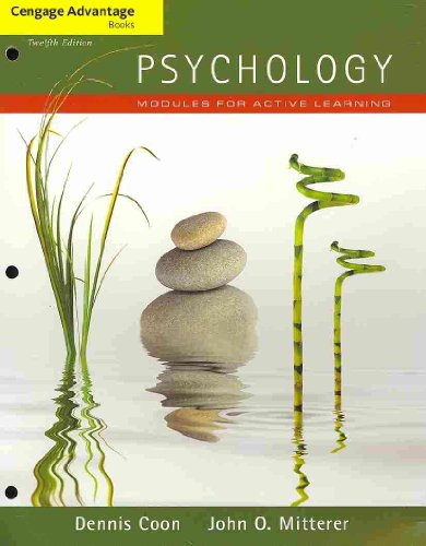 Cengage Advantage Books: Psychology Modules for Active Learning (with Concept Modules with Note-Taking and Practice Exams Tearout Cards) 12th 2012 edition cover