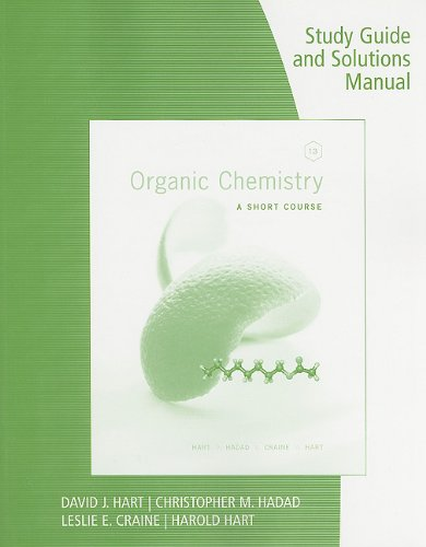 Organic Chemistry A Short Course 13th 2012 edition cover