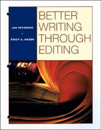 Better Writing Through Editing   1999 (Student Manual, Study Guide, etc.) edition cover
