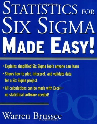 Statistics for Six Sigma   2004 9780071433853 Front Cover