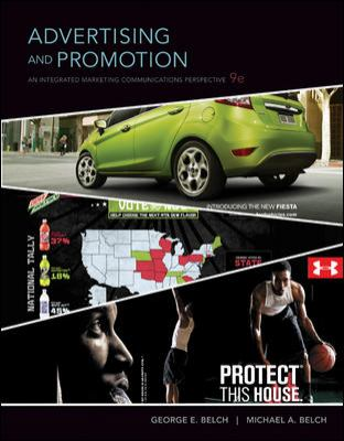Advertising and Promotion with ConnectPlus  9th 2012 9780077499853 Front Cover
