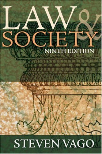 Law and Society  9th 2009 edition cover