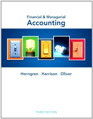 Financial and Managerial Accounting and MyAccountingLab with Pearson eText Student Access Code Card Package  3rd 2012 9780132785853 Front Cover