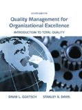 Quality Management for Organizational Excellence: Introduction to Total Quality  2015 9780133791853 Front Cover