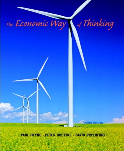Economic Way of Thinking  12th 2010 edition cover