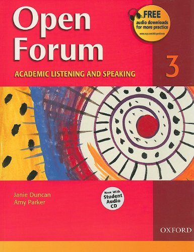 Open Forum Student Book 3 With Audio CD  2008 edition cover