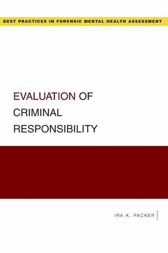 Evaluation of Criminal Responsibility   2009 edition cover