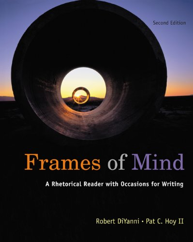 Frames of Mind A Rhetorical Reader (with 2009 MLA Update Card) 2nd 2009 edition cover