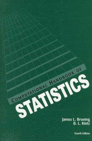 Computational Handbook of Statistics  4th 1997 (Revised) edition cover
