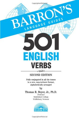 501 English Verbs With CD-ROM 3rd 2007 edition cover