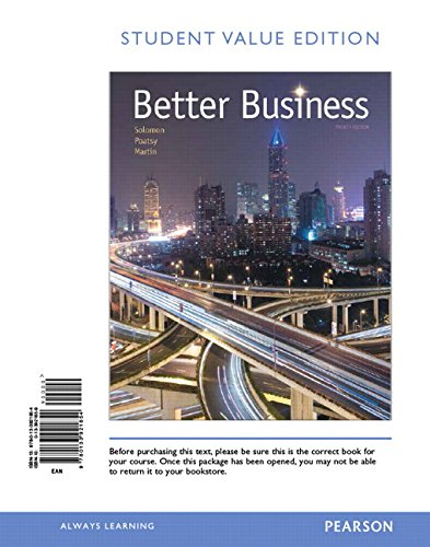 Better Business: Student Value Edition  2015 edition cover