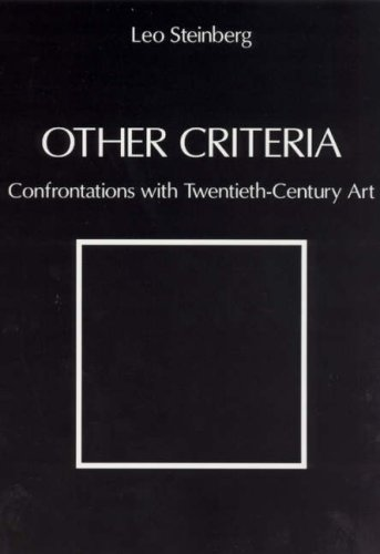 Other Criteria Confrontations with Twentieth-Century Art  2007 edition cover