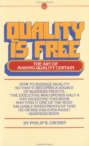 Quality Is Free The Art of Making Quality Certain  1980 edition cover