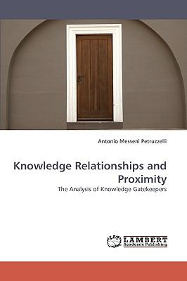 Knowledge Relationships and Proximity N/A 9783838362854 Front Cover