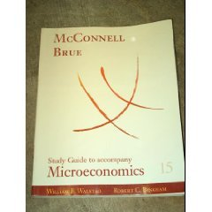Microeconomics  15th 2002 (Student Manual, Study Guide, etc.) edition cover