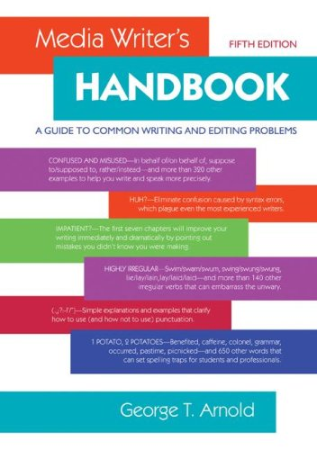 Media Writer's Handbook A Guide to Common Writing and Editing Problems 5th 2009 edition cover