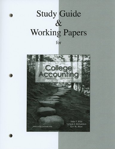 Study Guide and Working Papers for College Accounting  2nd 2011 edition cover