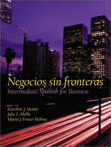 Negocios Sin Fronteras Intermediate Spanish for Business  2003 edition cover