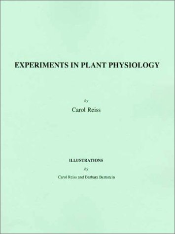 Experiments in Plant Physiology  1st 1994 edition cover