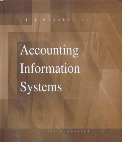 Accounting Information Systems Transaction Processing and Controls 5th 1999 9780256218855 Front Cover