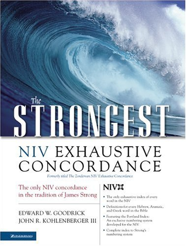 Strongest NIV Exhaustive Concordance   2004 edition cover