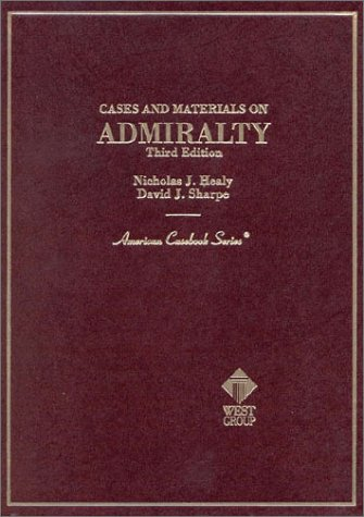 Cases on Admiralty  3rd 1998 9780314066855 Front Cover