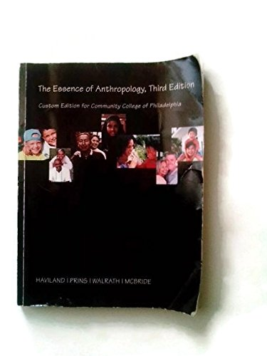 ESSENCE OF ANTHROPOLOGY >CUSTO N/A 9781285109855 Front Cover