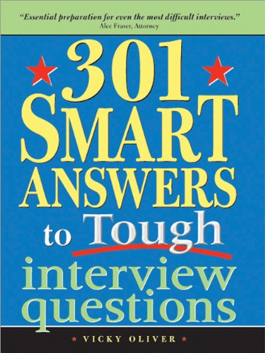 301 Smart Answers to Tough Interview Questions   2005 edition cover
