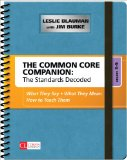 Common Core Companion - The Standards Decoded, Grades 3-5 What They Say, What They Mean, How to Teach Them  2014 edition cover