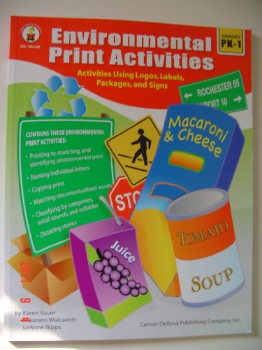 Environmental Print Activities, Grades Pk - 1   2006 edition cover