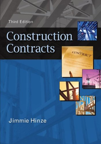 Construction Contracts  3rd 2011 edition cover