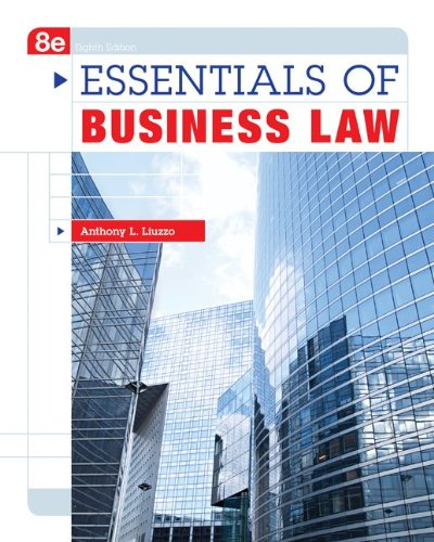 Essentials of Business Law  8th 2013 edition cover