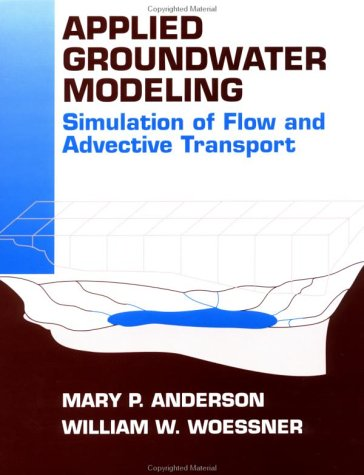 Applied Groundwater Modeling Simulation of Flow and Advective Transport  1992 edition cover