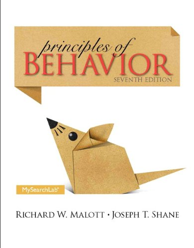 MySearchLab with Pearson EText -- Standalone Access Card -- for Principles of Behavior  7th 2014 edition cover