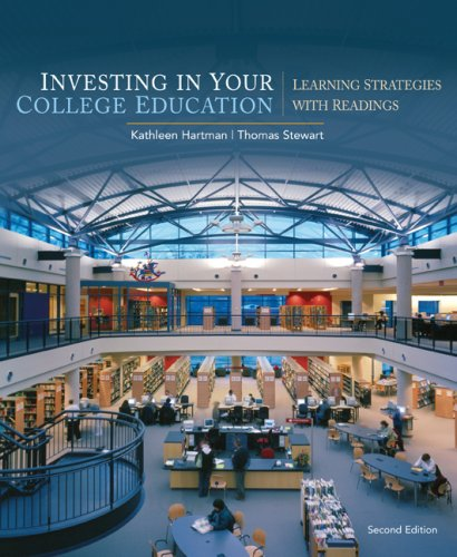 Investing in Your College Education Learning Strategies with Readings 2nd 2010 9780547199856 Front Cover