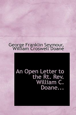 An Open Letter to the RT. Rev. William C. Doane:   2008 edition cover