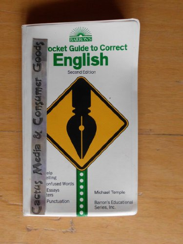 Pocket Guide to Correct English 2nd edition cover