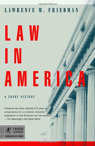 Law in America A Short History N/A edition cover