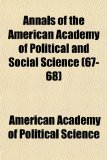 Annals of the American Academy of Political and Social Science N/A edition cover
