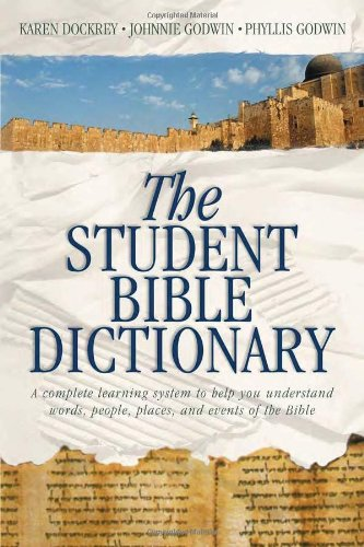Student Bible Dictionary   2000 edition cover
